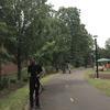 Volunteers on pathway