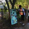 Cedar Hill community green space sandwich board