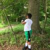 Child helping in the garden