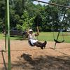 Person on swing