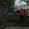 Excavating soil