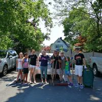 Our group of volunteers at Beecher Park and Mitchell Library