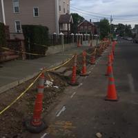 Poplar Street construction.