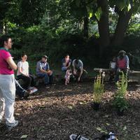 Volunteers getting ready to start gardening