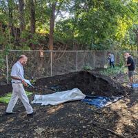 spreading soil